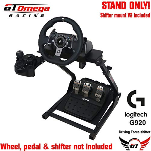 GT Omega Steering Wheel Stand for Logitech G920 Racing Wheel, Pedals & Gear  Shifter Mount Set, Xbox One, Fanatec Clubsport, PC PRO V2, Foldable,