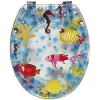 WC-Sitz Dekor Seaworld transparent | Toilettensitz | WC-Brille aus Kunststoff | Metall-Scharnier