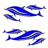 Homyl 2 Pz Autoadesivo Adesivo Decalcomania per Kayak Canoe Pesca Auto Decal Sport Acquatici Accessori