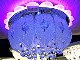 #9: Rrudraksh 400Mm Small Chandelier With Multicolor Leds And Inbuilt Bluetooth By