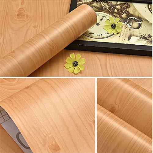 3M / 5M Modern Wood Grain autoadesiva carta da parati in vinile mobili ristrutturato pellicola decorativa porta della cucina adesivi da parete del desktop, legno di ciliegio 60 cm x 3 m