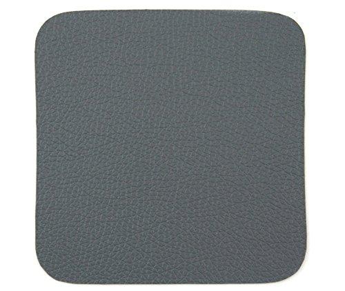 ASA Table Tops Glasuntersetzer, Lederoptik, 4er Set, Kunstleder, Dunkelgrau, B 10 cm, 7837420