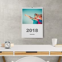 Calendarios personalizados de pared espiral 30 x 42 cm de 14 páginas - Imprime tu pack de 1 calendario.