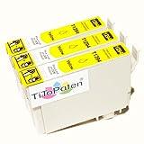 *TITOPATEN* 3x Epson Workforce WF 3520 DWF kompatible XL Druckerpatrone ersetzt Typ T1291-1294 - Gelb - Patrone MIT CHIP !!!