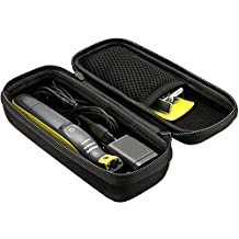 ProCase Hard Case for Philips Norelco OneBlade Trimmer Shaver Case, Travel Organizer Carrying Bag for Philips Norelco One Blade, QP2520/90 QP2520/70 QP2630/70 -Black