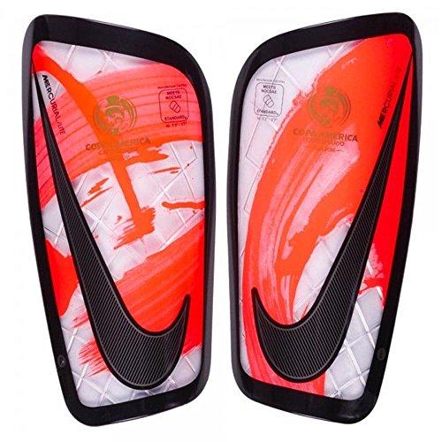 Nike Copa Mercurial Lite weiß/Bright Crimson Schienbeinschoner, White/Bright Crimson