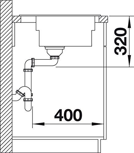 Blanco ZENAR XL 6 S DampfgarPlus, Küchenspüle, Granitspüle aus Silgranit PuraDur inklusiv Glasschneidbrett, 1 Stück, anthrazit-schwarz, 521227 - 4