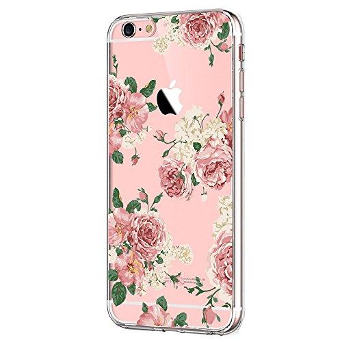 Kompatibel mit iPhone 6S 6 Hülle Klar TPU Transparent Bumper Case Creative Series Silikon Cover für Apple iPhone 6S, 4.7 inch, Flower6 -
