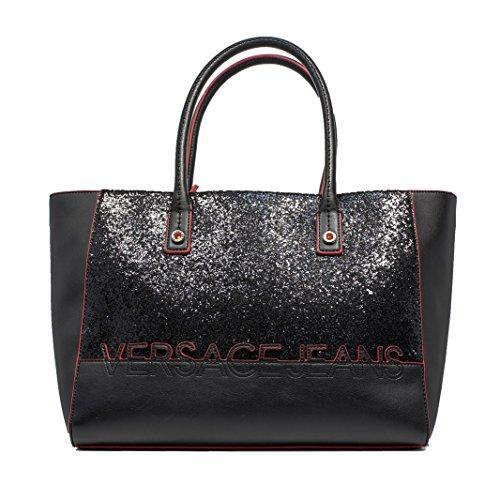 Versace Jeans borsa donna nero E1VOBBO3 75340 899 nappa morbida+glitter nuova collezione autunno inverno 2016 2017