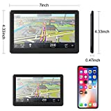 Sat Navs,7 Inch GPS Navigation for car with Full Europe (including UK) Lifetime Map Updates, Touch Screen (Black 733)