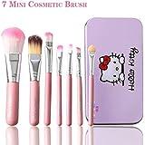 Makeup Brush - Mini Hello 7PCS Kitty Makeup Brush Set Cosmetics Kit Full Function Base Eyes Shadow Make Up Brushes...