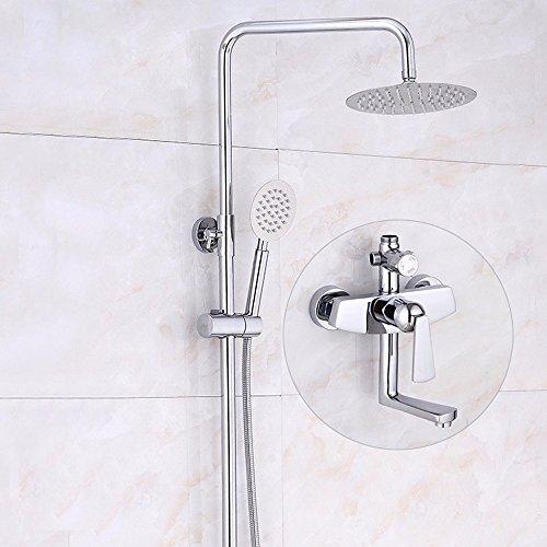 SDKKY der vollmond der modernen europäischen kupfer gießerei - sprinkler - anzug, chrome mond shower set (Raum Anzug Zum Verkauf)