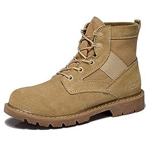Hombres Zapatos Vestido Escalar Montañas Otoño Aire Libre Botas Zapatos Deportivos Resbalón Encendido Negro-marrón-marrón Longitud del pie=41EU