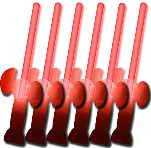 6 Knicklichter Schwerter ROT (5 kaufen + 1 ()