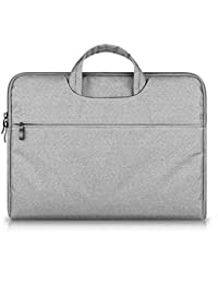 GADIEMENSS Waterproof Laptop Sleeve Case Bag with Handle Portable Computer Handbag For Apple Macbook Air Pro Chromebook and other Notebook 15.6 inches Gray