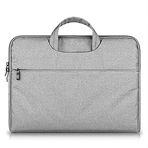 GADIEMENSS Waterproof Laptop Sleeve Case Bag with Handle Portable Computer Handbag For Apple Macbook Air Pro Chromebook and other Notebook 13.3 inches Gray
