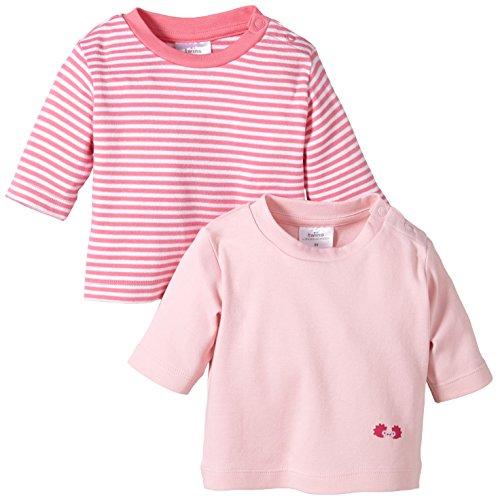 Twins Baby - Mädchen Langarmshirt im 2er Pack, Mehrfarbig, Gr. 50, Rosa (13-2804 - rosé)