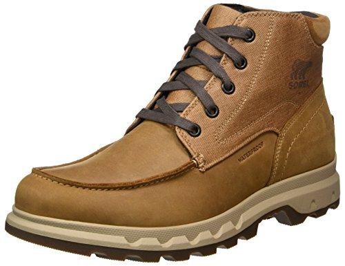 Sorel Mens Portzman Moc Toe Stivali Da Neve Marrone (alce / Antico Fossile)