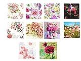 #6: The Craftshop Decoupage Napkins Assorted Colorful Flowers Set (33X33cm) - 20pcs