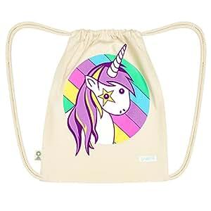 Turn sacchetto Gymbag unicorno (Bio naturale) di graent