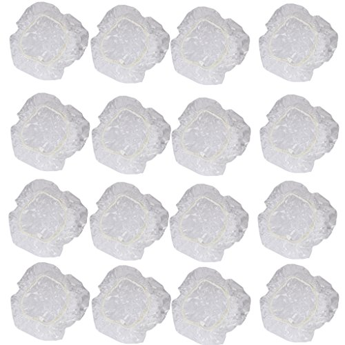 Lot de 100pcs Protection Oreille Jetable pour Douche Salon Spa Transparent