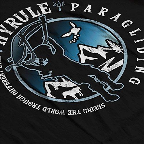Legend Of Zelda Hyrule Paragliding Club Men's T-Shirt Black