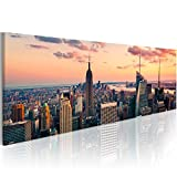 murando - Bilder New York 120x40 cm Vlies Leinwandbild 1 tlg Kunstdruck modern Wandbilder XXL Wanddekoration Design Wand Bild - Skyline NY City Stadt 9020119