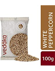 Amazon Brand - Vedaka White Peppercorn (Safed Mirch), 100g