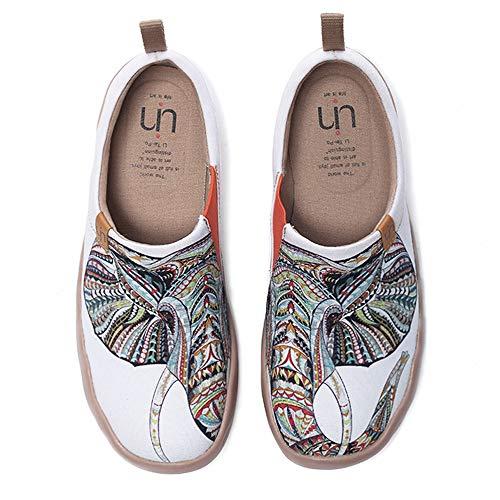 UIN Desigual Art Zapatos Casual comodas el naturalista imprimio Mujer, Lona,Vestir,Plano,Mocasines Verano,niña,señora...