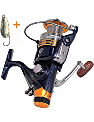 BNTTEAM 11BB Système de frein arrière avant Taille d'embrayage unidirectionnelle 5000 Rouleau en métal plein Spinning Rouleau de pêche Roue de carpe Pêche