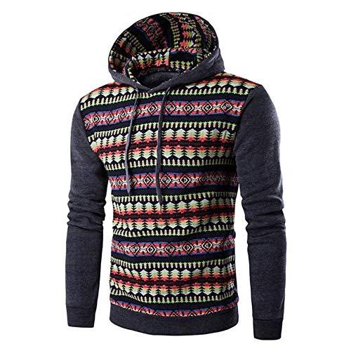 JiaMeng Herren Herbst Winter National Style Print Langarm Hoodie Top Bluse