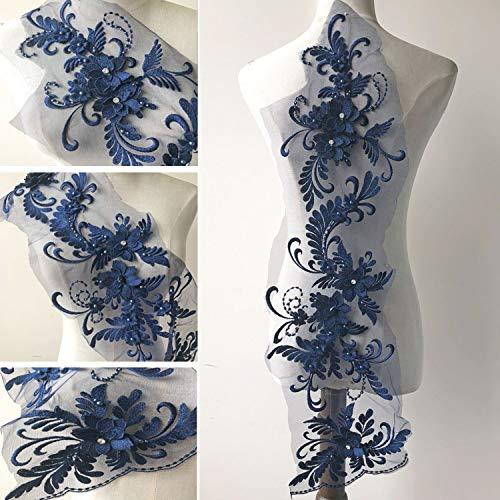 Perlenstickerei Blumen Patches 3D Spitze Applikation Nähen Spitze Motiv Handwerk Zubehör für Kostüme Hochzeit Kleid Mieder - Tutu Couture Kostüm