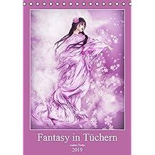Fantasy in Tüchern (Tischkalender 2019 DIN A5 hoch): In bunten Tüchern fantasievoll durch das Jahr. (Monatskalender, 14 Seiten) (CALVENDO Kunst)