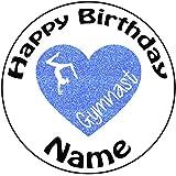 "Decoración para tarta para personalizable gimnasia corazón–un precortado redondo 8""(20cm) glaseado decoración"
