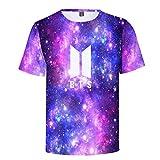 BTS 3D Print Männer Frauen T-Shirts Kurzarm Shirts O Hals Tee Tops C XL