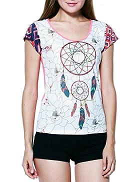 Panasiam–Camiseta, 'Dream Catcher', de toda fina freshrunk algodón, en S, M y L, Vintage Style.