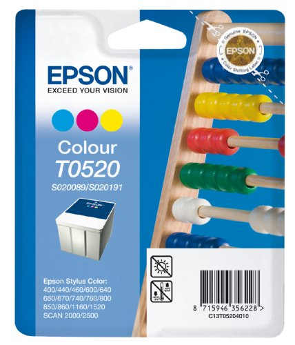 Preisvergleich Produktbild Epson T0520 Tintenpatrone Rechenschieber, Multipack 3-farbig