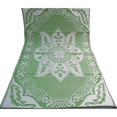 indian tappeto fatto a mano in polipropilene materiale plastico tappetino