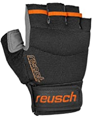 Reusch Via Ferrata, black/orange popcicle, 7.5