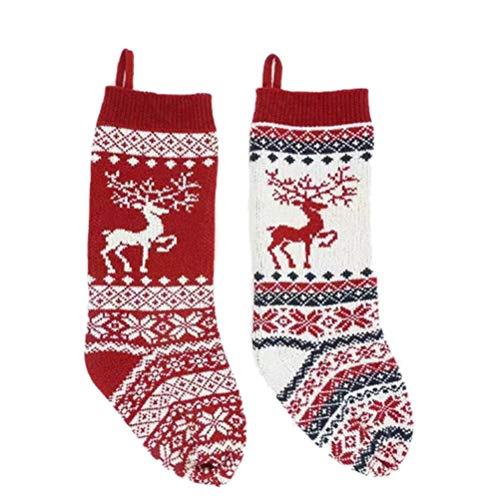 2 Piezas de Punto de Navidad de Navidad árbol de Navidad Medias...