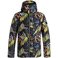 Quiksilver Men's Mission Printed Snow Jacket, Multicolor, Size: