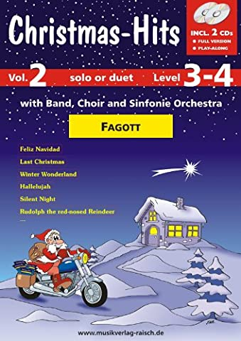 Christmas-Hits Vol.2 Fagott (play-along für Fagott)