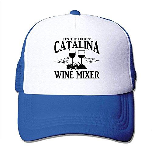 Catalina Wine Mixer (WHALE LANDY Unisex-Adult Fuckin' Catalina Wine Mixer Mesh Dancing Cap Hat Black)