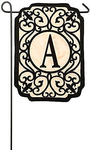 Evergreen monogramme en filigrane une applique Drapeau Jardin, 31,8x