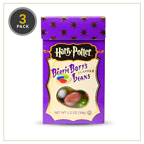 Harry Potter Bertie Bott's Every Flavour Jelly Belly Beans 1.2 OZ (34g) (3 Boxes) 2