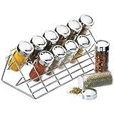 Kitchen Craft - Porta spezie per 12 vasetti, superficie cromata