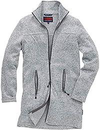 e15957441ec5 Coastline Strickfleecejacke Damen Übergangsjacke Pullover mit  Reißverschluss ungefüttert