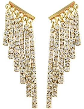 SELOVO Gold-Ton Diamant Quaste hängend Statement Ohrringe Baumeln Ohrringe for Damen Mädchen