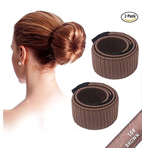 dutt hilfsmittel Cineen Modische Dutthilfe für Frauen und Mädchen, Werkzeug zum Erstellen von Haarknoten, Banane, Hochsteckfrisuren zum Selbermachen, 2Stück