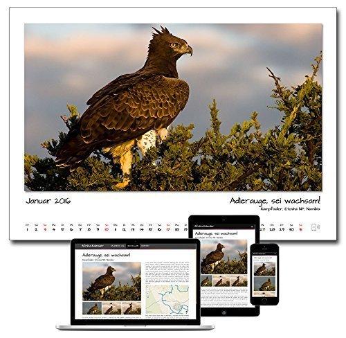 Afrika-Kalender 2016 mit Mehrwert, DIN A2 quer, 60x42cm